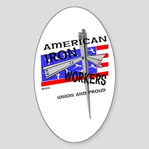 AMERICAN IRON WORKERS Oval Sticker