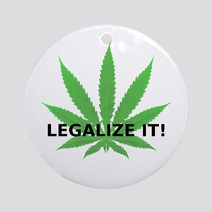 Legalize It! (leaf) Ornament (Round)
