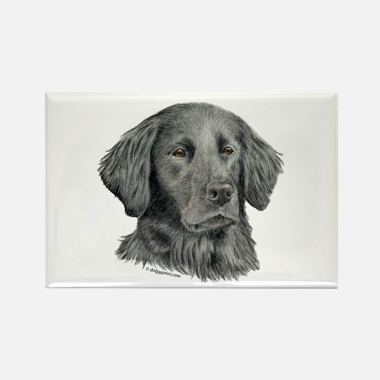 Flat-Coated Retriever Rectangle Magnet