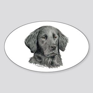 Flat-Coated Retriever Oval Sticker