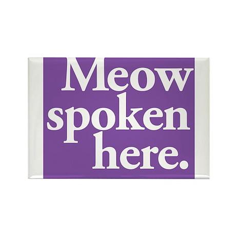 Cat Speak Rectangle Magnet