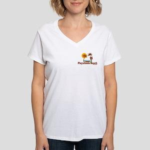 Playalinda Beach FL Women's V-Neck T-Shirt