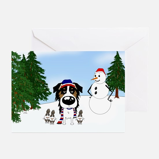 Tri Aussie Holiday Greeting Cards (Pk of 10)