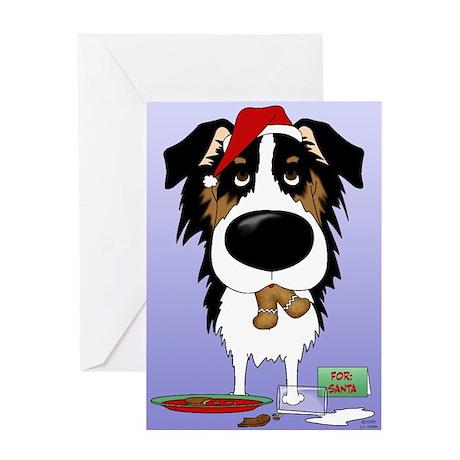 Aussie Santa's Cookies Greeting Card