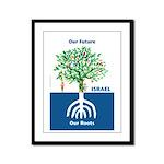 Tree Menorah Framed Panel Print