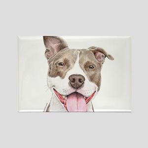 Pitbull terrier Rectangle Magnet