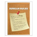 Sukkah Rules Poster Small Poster
