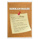 Sukkah Rules Poster Large Poster