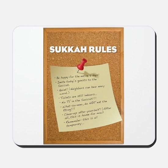 Sukkah Rules Poster Mousepad