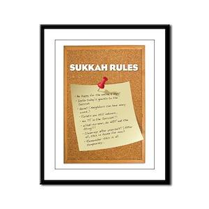 Sukkah Rules Poster Framed Panel Print