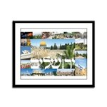 Jerusalem Montage Framed Panel Print