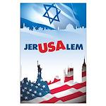 Jer-USA-lem Large Poster