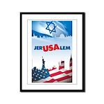 Jer-USA-lem Framed Panel Print