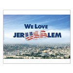 We Love Jer-USA-lem Small Poster