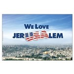 We Love Jer-USA-lem Large Poster