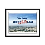 We Love Jer-USA-lem Framed Panel Print