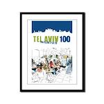Tel Aviv 100 - City Framed Panel Print