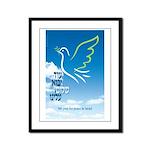 Pray For Peace Framed Panel Print