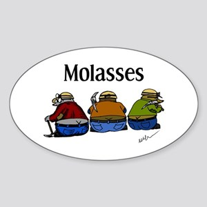 Molasses Oval Sticker