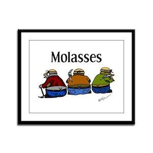 Molasses Framed Panel Print