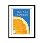 Israeli Orange Framed Panel Print