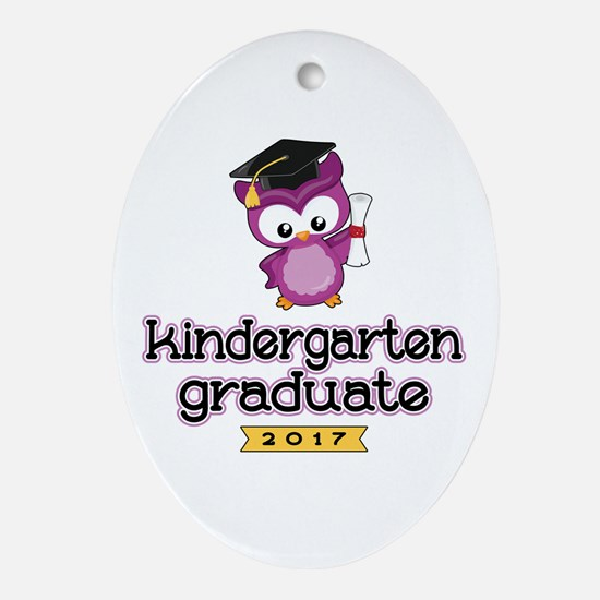 Kindergarten Grad 2017 Oval Ornament