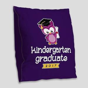 Kindergarten Grad 2017 Burlap Throw Pillow