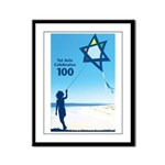 Tel Aviv 100 kite Framed Panel Print