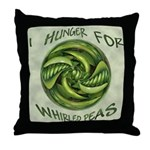 Whirled Peas Throw Pillow