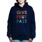 Give Pray Fast Women's Hooded Sweatshirt