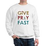 Give Pray Fast Light Sweatshirt