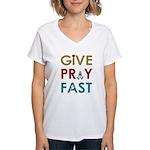 Give Pray Fast V-Neck T-Shirt