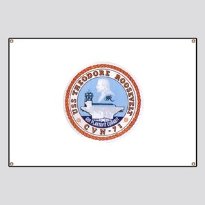USS Theodore Roosevelt CVN 71 US Navy Ship Banner