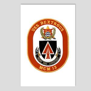 USS Dextrous MCM 13 US Navy Ship Postcards (Packag