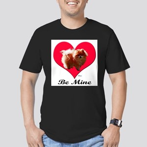 A Pomeranian Valentine Men's Fitted T-Shirt (dark)