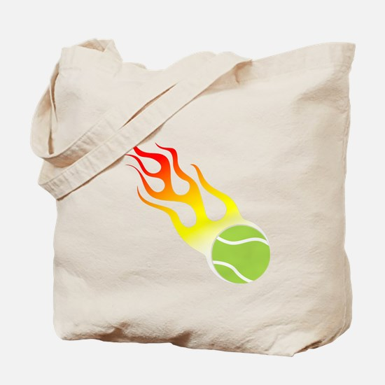 Tennis On Fire! Tote Bag