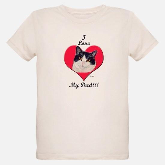 Black & White Cat Father's Da T-Shirt