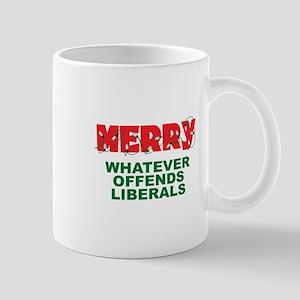 Merry Whatever Offends Liberals Mug