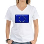 Flag of Europe Women's V-Neck T-Shirt