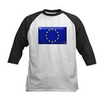 Flag of Europe Kids Baseball Jersey