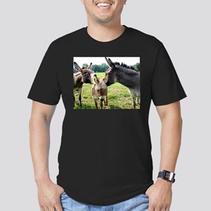 Miniature Donkey Family Men's Fitted T-Shirt (dark