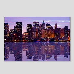 Manhattan Cityscape Reflectio Postcards (Package o