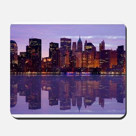 Manhattan Cityscape Reflectio Mousepad