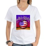 New York Big Apple American F Women's V-Neck T-Shi