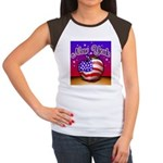 New York Big Apple American F Women's Cap Sleeve T