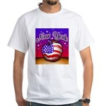 New York Big Apple American F White T-Shirt