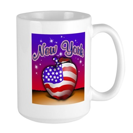 New York Big Apple American F Large Mug