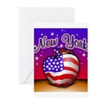 New York Big Apple American F Greeting Cards (Pk o