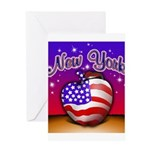 New York Big Apple American F Greeting Card