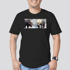 Grizzly Bear Walking Men's Fitted T-Shirt (dark)